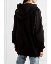 Ashish Black Oversized-hoodie Aus Jersey Aus Einer Baumwollmischung Mit Pailletten
