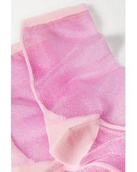 Chaussettes En Tulle Bicolore Golf Maria La Rosa en coloris Pink