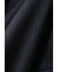 Roland Mouret Blue Duval Asymmetrische Robe Aus Gehämmertem Seidensatin Mit Wickeleffekt