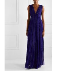 Jason Wu Purple Robe Aus Plissiertem Seidenchiffon