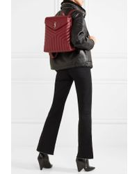 Saint Laurent | Red Loulou Quilted Leather Backpack | Lyst