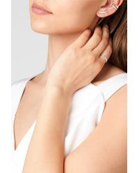 Anita Ko - Multicolor Floating 18-karat White Gold Diamond Earrings - Lyst