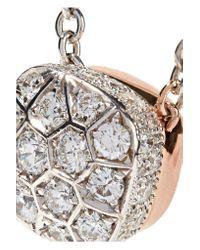 Pomellato - Metallic Nudo Solitaire 18-karat White And Rose Gold Diamond Necklace - Lyst