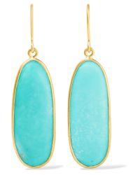 Pippa Small | Metallic 18-karat Gold Turquoise Earrings | Lyst