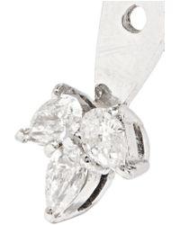 Yvonne Léon | Multicolor 18-karat White Gold Diamond Earring | Lyst