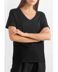 Handvaerk Black T-shirt Aus Pima-baumwoll-jersey