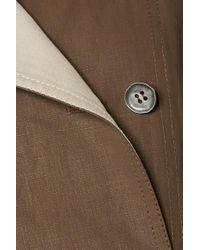 Trench-coat Oversize À Double Boutonnage En Lin Acne en coloris Brown