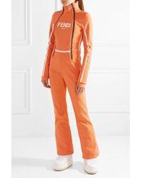 Fendi - Orange Roma Printed Ski Suit - Lyst