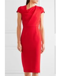 Roland Mouret Red Burfield Wool-crepe Dress