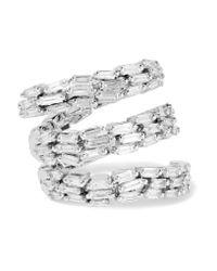 Suzanne Kalan   Metallic 18-karat White Gold Diamond Ring   Lyst