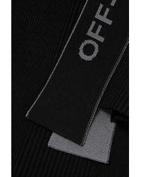 Robe Asymétrique En Mailles Côtelées Off-White c/o Virgil Abloh en coloris Black