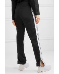 Palm Angels - Black Striped Jersey Track Pants - Lyst