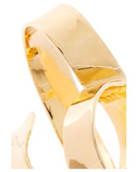 Jennifer Fisher - Metallic Overlap Script Gold-plated Ring - Lyst