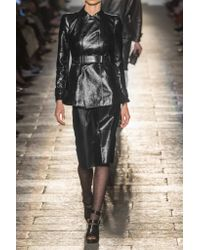 Bottega Veneta - Black Patent-leather Jacket - Lyst