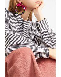 Balenciaga Pink Ohrringe Aus Bedrucktem Seiden-twill