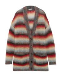 Chloé | Multicolor Oversized Striped Mohair-blend Cardigan | Lyst