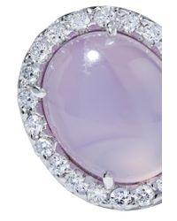 Kimberly Mcdonald | Multicolor 18-karat White Gold, Moonstone And Diamond Earrings | Lyst
