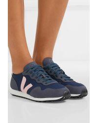 Vejas Blue + Net Sustain Sdu Rec Sneakers Aus Veganem Veloursleder Und Mesh