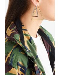 Jennifer Fisher - Metallic Triangle Silver And Gold-plated Earrings - Lyst