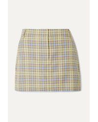 Tibi Multicolor Checked Woven Mini Skirt