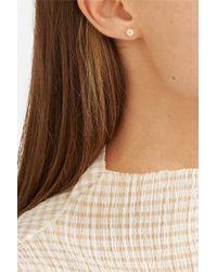 Saskia Diez Metallic Birthday Gold And Stone Earrings