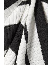 Jason Wu Black Gerippter Pullover Aus Einer Seidenmischung Mit Streifen