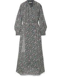 Étoile Isabel Marant Black Joly Bedrucktes Maxikleid Aus Georgette