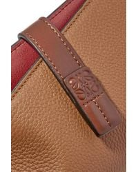 Loewe Brown Portemonnaie Aus Strukturiertem Leder