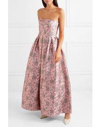 Erdem Synthetic Kaelyn Convertible Metallic Brocade Gown in Pink - Lyst