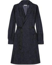 Tomas Maier Blue Belted Denim Dress