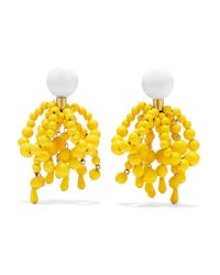 Marni - Yellow Hanging Clip-on Earrings - Lyst