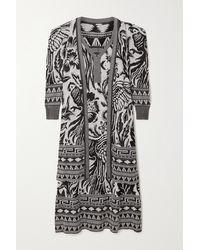 Johanna Ortiz Black Shiva Jacquard-knit Pima Cotton Cardigan And Dress Set