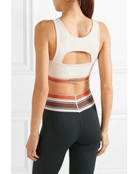 Olympia White Margaux Cutout Stretch-jersey Sports Bra