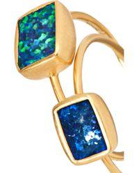 Pippa Small - Metallic Set Of Two 18-karat Gold Opal Rings - Lyst