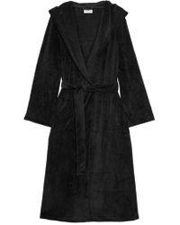 DKNY Black Elevated Leisure Velour Robe