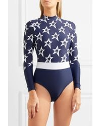 Perfect Moment Blue Printed Swimsuit