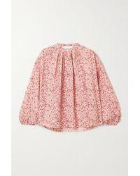 Doen Pink Jane Bluse Aus Voile Aus Einer Baumwollmischung Mit Blumenprint