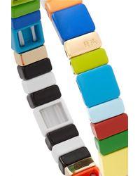 Roxanne Assoulin Multicolor Alphabet Soup Armband Mit Emaille