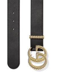 Gucci Black Ledergürtel