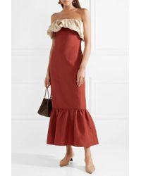 Rejina Pyo - Red 3/4 Length Dress - Lyst