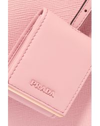 Prada Pink Textured-leather Tote