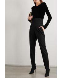 Rene Caovilla Black Sock Boots Aus Metallic-rippstrick Mit Kristallen