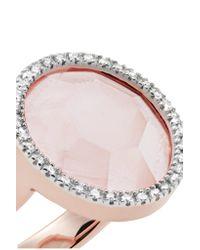 Monica Vinader - Multicolor Naida Circle Rose Gold Vermeil, Quartz And Diamond Ring Rose Gold M - Lyst