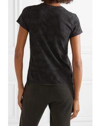 ATM Black Schoolboy T-shirt Aus Aus Flammgarn-jersey Aus Baumwolle Mit Batikmuster