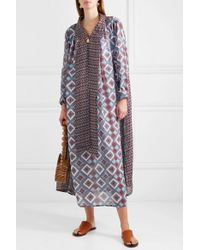 Yvonne S Gray Bow Printed Linen Kaftan