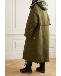 3 MONCLER GRENOBLE Green Tervela Wendbarer Oversized-mantel Mit Daunenfüllung Und Kapuze