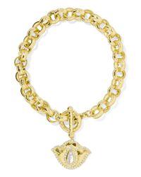 Amrapali - Metallic Thamarai Lotus 18-karat Gold, Topaz And Diamond Bracelet - Lyst