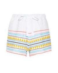 Lemlem   Blue Tabtab Striped Cotton-blend Gauze Shorts   Lyst