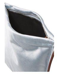 The Row Blue Medicine Satin Shoulder Bag