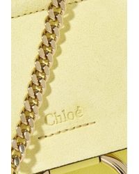 Chloé Yellow Faye Bracelet Mini Leather And Suede Shoulder Bag